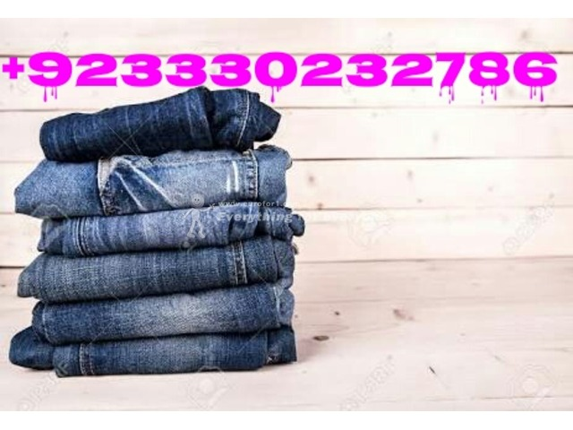 Whole Sale Supplier of Jeans all over the world Contact +923330232786