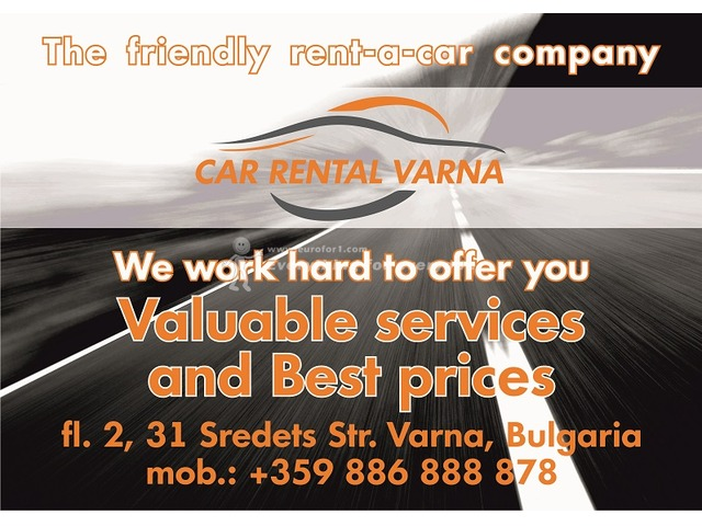 VARNA CAR RENTAL car hire, 6+1